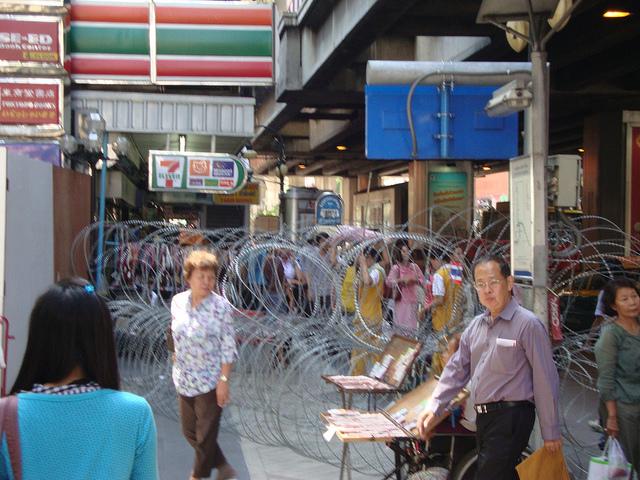 razor wire On silom